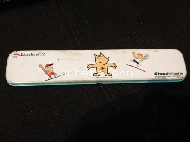バルセロナオリンピック カンペンと鉛筆(コビー君) (1)