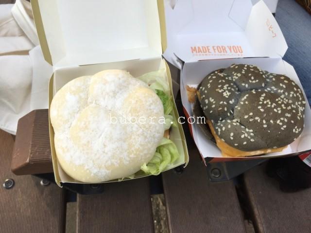 マックのイカスミバーガーカマンベール チキンフィレオ食った (2)