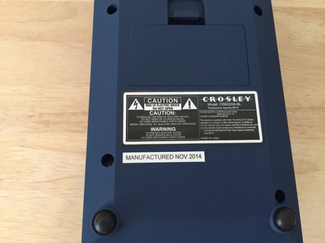 レボリューション・ポータブル・ターンテーブル ブルー CR6020A-BL (6)
