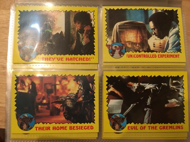 A topps Picture Card Series - Gremlins 82 Cards 11 Stickers (10)