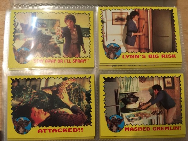 A topps Picture Card Series - Gremlins 82 Cards 11 Stickers (11)