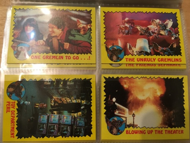 A topps Picture Card Series - Gremlins 82 Cards 11 Stickers (17)