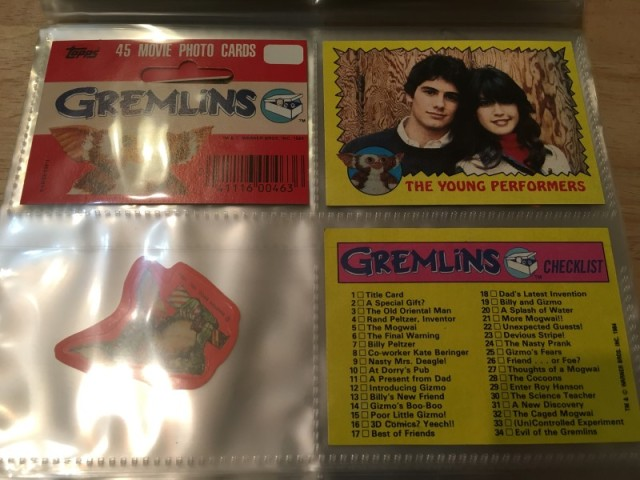 A topps Picture Card Series - Gremlins 82 Cards 11 Stickers (22)