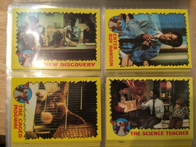 A topps Picture Card Series - Gremlins 82 Cards 11 Stickers (9)