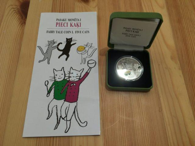 ラトビア5ユーロ銀貨 (2)