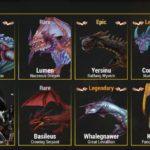 War Dragonsのドラゴン一覧(金)