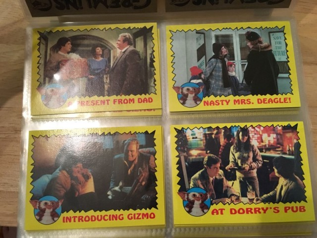 A topps Picture Card Series - Gremlins 82 Cards 11 Stickers (4)