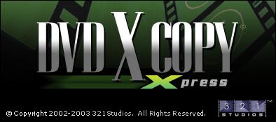 DVDXCopy Xpress Splash Screen