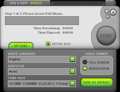 DVDXCopy Xpress GUI 2