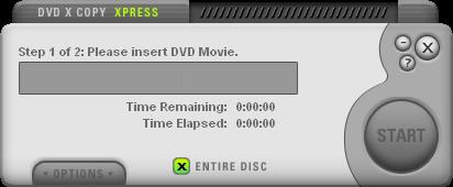 DVDXCopy Xpress Start