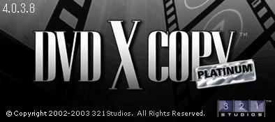 DVDXCopy Platunum Splash Screen