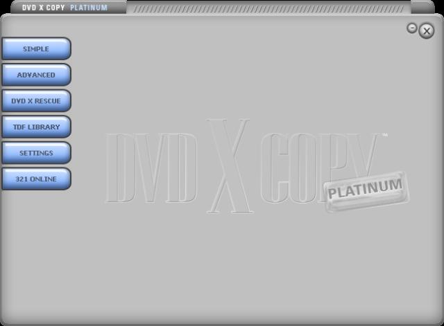 DVDXCopy Platunum GUI 1